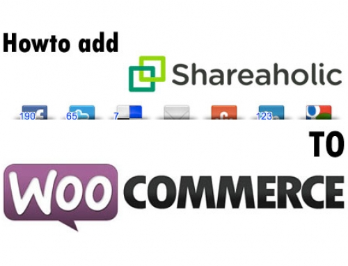 Howto add Shareaholic to WooCommerce Products