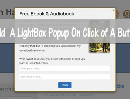 How To Add a Lighbox Popup On Click Link or Button in WordPress