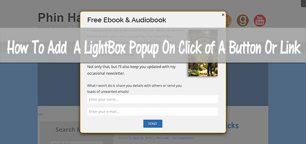 HowToAddLightBoxPopupOnClickWordPress